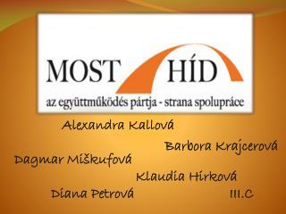 Alexandra  Kallová  Dagmar  Miškufová                                   Klaudia  Hirková