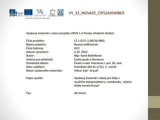 V Y_32_INOVACE_ ČJPS2A0560BED