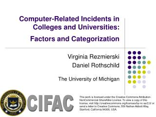 Computer-Related Incidents in Colleges and Universities: Factors and Categorization