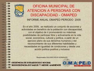 GERENCIA DE DESARROLLO SOCIAL SUBGERENCIA DE SALUD Y MEDIO AMBIENTE