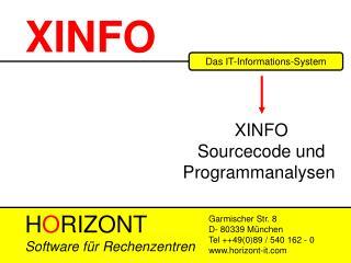 XINFO - User Training