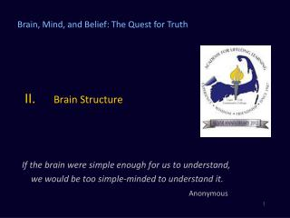 II.	 Brain Structure