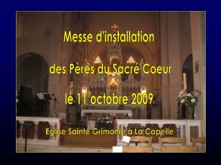 Messe d'installation