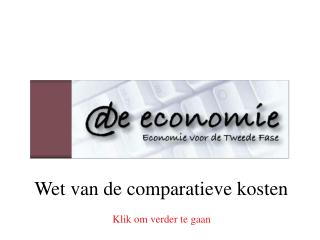 Wet van de comparatieve kosten