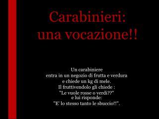 Carabinieri: una vocazione!!