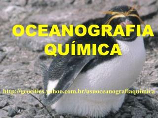 OCEANOGRAFIA QU�MICA