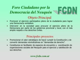 Foro Ciudadano por la Democracia del Neuquén