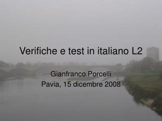Verifiche e test in italiano L2