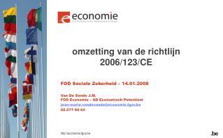 omzetting van de richtlijn 2006/123/CE