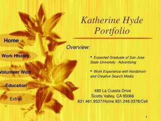 Katherine Hyde Portfolio