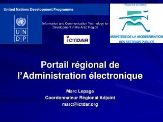 Information and Communication Technology for Development in the Arab Region