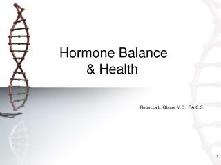 Hormone Balance  & Health