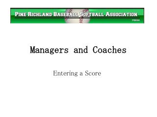 Managers and Coaches