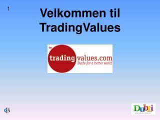 Velkommen til TradingValues