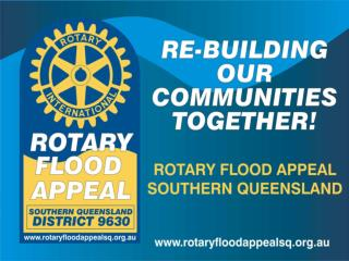 Why re-building our communities together is  Rotary's focus