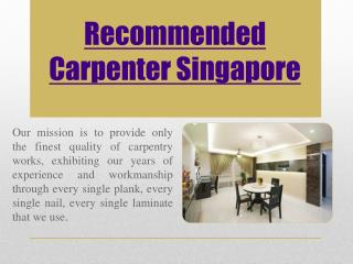 Carpentry Singapore