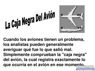 La Caja Negra Del Avión