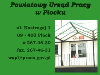 Powiatowy Urząd Pracy  w Płocku