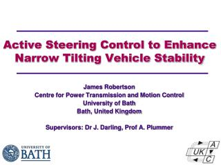 Active  Steering Control  to Enhance Narrow Tilting Vehicle Stability