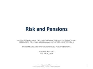 Risk and Pensions