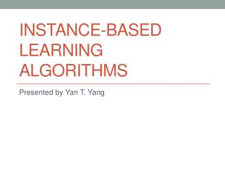 Instance-based Learning Algorithms