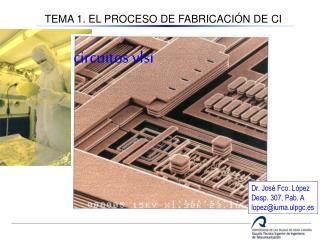 TEMA 1. EL PROCESO DE FABRICACIÓN DE CI