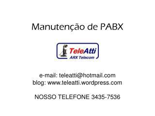 Manutenção de PABX