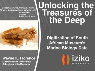 Unlocking the  Treasures of  the Deep