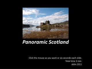 Panoramic Scotland