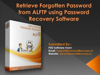 Retrieve Forgotten Password from ALFTP