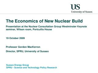 The Economics of New Nuclear Build