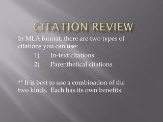 Citation Review