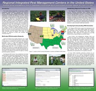 Regional Integrated Pest Management Centers in the United States