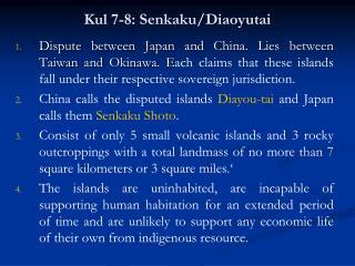 Kul 7-8: Senkaku/Diaoyutai