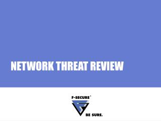 NETWORK THREAT REVIEW