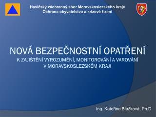Ing. Kateřina Blažková, Ph.D.
