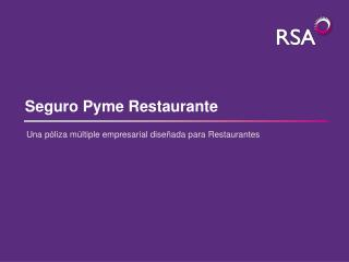 Seguro Pyme Restaurante