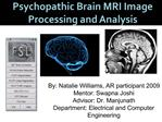 Psychopathic Brain MRI Image Processing and Analysis