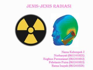Jenis-jenis Radiasi