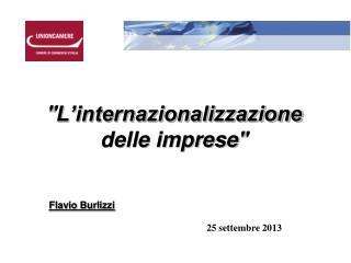 """"""" L'internazionalizzazione  delle imprese """""""