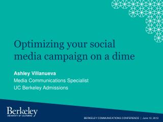 Optimizing your social media campaign on a dime