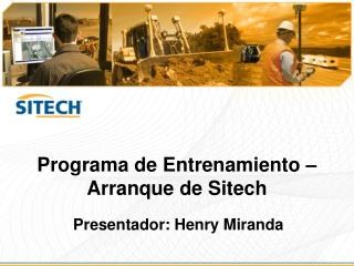 Programa  de  Entrenamiento  –  Arranque  de  Sitech
