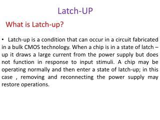 Latch-UP