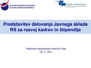 Predstavitev delovanja Javnega sklada RS za razvoj kadrov in štipendije