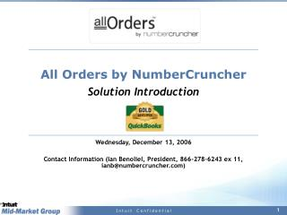 All Orders by NumberCruncher