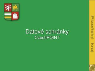 Datové schránky CzechPOINT