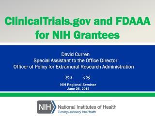 NIH Regional Seminar June 26, 2014