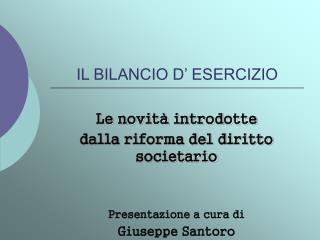 IL BILANCIO D  ESERCIZIO