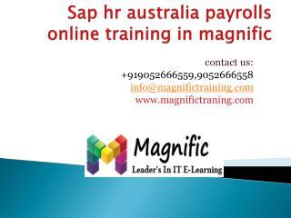 sap hr australia payrolls online training