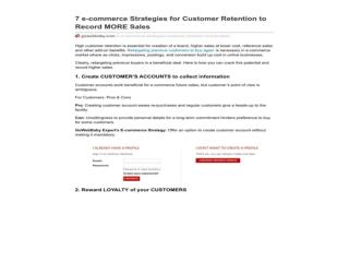 7 e-commerce Strategies for Customer Retention to Record MOR